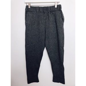 Zara | Dark Grey Lace Up Sweatpants Joggers